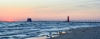 The lighthouses on Grand Haven's South Pier 2
