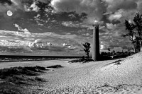 Little Sable Point Lighthouse (4) B&W