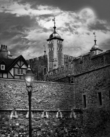 London Tower in the Moonlight
